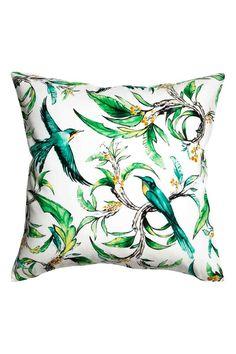 Printed cushion cover - White/Birds - Home All | H&M 1