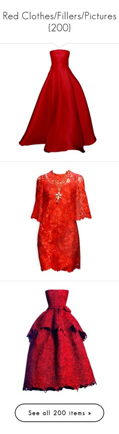 """Red Clothes/Fillers/Pictures {200}"" by madslolo ❤ liked on Polyvore featuring dresses, gowns, valentino, vestidos, long dresses, d&g, edited, satinee, dolce gabbana dress and red dress"