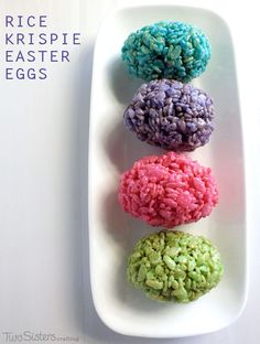 Rice Krispie Easter Eggs - a fun and festive Easter dessert for your Easter Celebration.