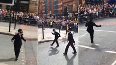 Strictly fantastic! Dancing police officer gets crowd going at Manchester Pride with her top moves