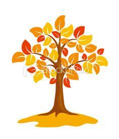 Autumn tree illustration.