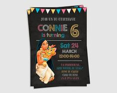 Check out our pocahontas birthday selection for the very best in unique or custom, handmade pieces from our shops. Pocahontas Birthday Party, Spiderman Invitation, Ninjago Party, 24 March, Party Cakes, Birthday Invitations, Party Planning, Rsvp, How To Plan