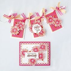 Color Contour, Pretty Cards, Stampin Up Cards, Birthday Cards, Banner, Paper Crafts, Gift Wrapping, Create, Tableware