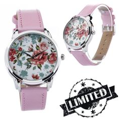 Pink Roses Retro Watch  Wristwatch / Cool Modern by ZIZWatches, €40.00