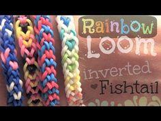 ▶ Rainbow Loom : Inverted Fishtail Bracelet - How To - YouTube