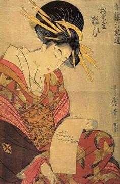 Kitagawa Utamaro: Aus der Serie »Sechs Schöne der Vergnügungsviertel«: Die Kurtisane Yosoi aus dem Matsubaya-Haus
