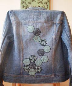 Cute embellishment idea using hexies! love