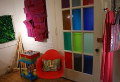 And this is the other side of my studio, where I paint and display my artwork. My Art Studio, Small Words, Container Store, Art Studios, Something To Do, My Arts, Display, Paint, Wood