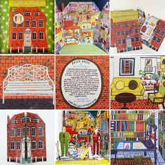 Edward Bawden & Eric Ravilious' Brick House. Alice Pattullo's 3D tribute to these two artists, an A3 lithographed card house where each room has been interpreted by Alice from a print, painting or contemporary account of Brick House. Here is a collection of posts of Brick House, an inexpensive way to a limited edition lithographed Alice Pattullo print at under £15. Available via link in my profile. #alicepattullo #ericravilious #edwardbawden #spotlithography #brickhouse #greatbardfield