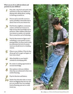 How to cultivate talents and passions in your children--list of 10 things. By Holly Giles Molly Green - January/February 2015 - Page 90