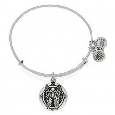 """Godspeed Charm Bangle-in old English """"godspeed"""" was the word one said to bless someone embarking on a journey. The expression bestows good fortune and safety, with God's grace. Magically sincere, godspeed is the desire to have God's protection alongside your path."""