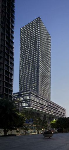 Shenzhen Stock Exchange Tower, Shenzhen, China, designed by Rem Koolhaas of Office for Metropolitan Architecture (OMA) :: 46 floors, height 245m
