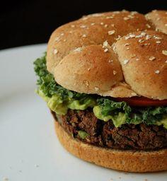 The Best Black Bean Burger Recipe. Vegan, Gluten-Free. Made with just black beans, veggies and quinoa flour.