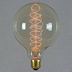 Vintage Retro Edison Glühbirne 60W E27 – Vollständig Dimmbar Spirale Glühfaden Groß Globe 125mm - The Retro Boutique ®