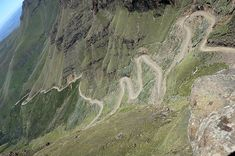 Sani Pass, KwaZulu-Natal, South Africa. You might want to test your brakes before heading down this road!