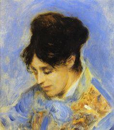Portrait of Madame Claude Monet, 1872. Pierre Auguste Renoir