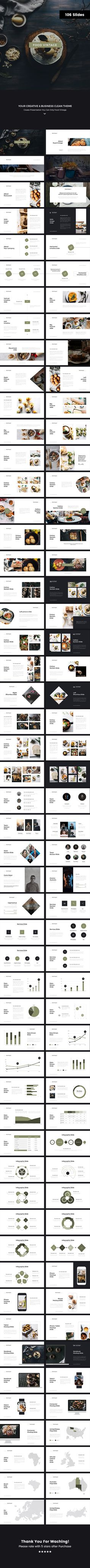 Food Vintage 3 Keynote Template — Keynote KEY #light #minimal • Download ➝ https://graphicriver.net/item/food-vintage-3-keynote-template/18832202?ref=pxcr