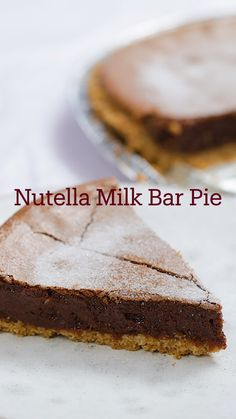 Just Desserts, Delicious Desserts, Dessert Recipes, Yummy Food, Tasty, Pie Dessert, Easy Cake Recipes, Crack Pie, Nutella Recipes