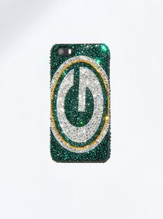 Swarovski Crystal Green Bay Packers Football by SportAndSparkle