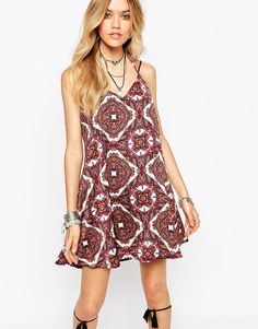 Image 1 of Missguided Boho Geo-Tribal Print Cami Dress