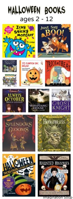 Halloween books for kids ages 2 to 12 Scary and Scary ish Books + New Halloween Books #readersadvisory