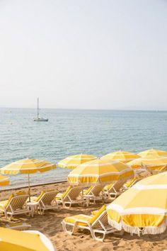 """On the beach in Le Lavandou. Photographed by Julien Capmeil. See the story """"Provence Moderne"""" in our May 2014 issue! (at Le Lavandou) Beach Aesthetic, Aesthetic Colors, Summer Aesthetic, Aesthetic Vintage, Aesthetic Photo, Aesthetic Pictures, Aesthetic Grunge, Yellow Aesthetic Pastel, Pastel Yellow"""