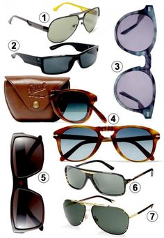 Seven pairs of guys' shades for sunny days
