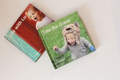 Instead of baby books, Blurb books with photos + journal/blog entries!