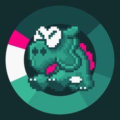 Dino-Rhino . Super Mario World . Nintendo . 1990 . #game #colorwheel #color #palette #colorscheme #pixelart #mario #supermario #nintendo #snes #platformer #characterdesign #retrogames #gameart #digitaldesign #graphicdesign #webdesign