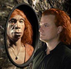 """Neanderthals had sex with humans, says DNA. Nine percent of humans everywhere except Africa may be part Neanderthal.""  Pictured: ""Some Neanderthals may have had pale skin and red hair similar to that of some modern humans.""  Click-through has summary; original article is here: http://mbe.oxfordjournals.org/content/28/7/1957.abstract"