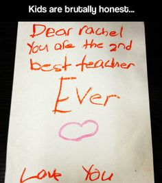 Funny pictures about Kids are honest. Oh, and cool pics about Kids are honest. Also, Kids are honest. Things Kids Say, Funny Test Answers, Funny Note, Funny Memes, Hilarious, Jokes, Brutally Honest, Passive Aggressive, Teacher Humor