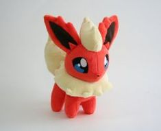 Flareon Chibi Plush by Yukamina-Plushies - Pokemon Filz - Origami Pokemon Flareon, Charmander Plush, Pokemon Dolls, Pokemon Gifts, Pokemon Party, Pokemon Poster, Pokemon Fan Art, Foxy Plush, Cute Plush