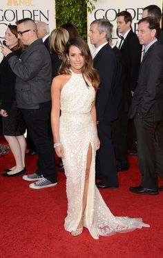 Glee girl in Elie Saab. Photo terrible, looked gorgeous on TV. Just pretend someone fabulous is wearing it.