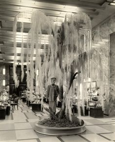 Inside Bullocks Wilshire (3050 Wilshire Boulevard) in 1937. (California State Library) ~ Bizarre Los Angeles