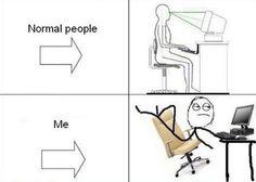 normal v. me