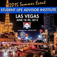Don't Forget APCA's Las Vegas Advisor Institute coming up soon! June 18-20