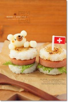 rice burger w/ potato bear