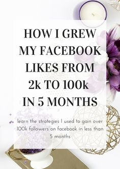Click here to learn how I grew my facebook page likes from 2k to over 100k in less than 5 months using timeless strategies that won't become outdated with a new algorithm update!