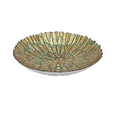 IMAX 83254 Bali Gold Glass Bowl