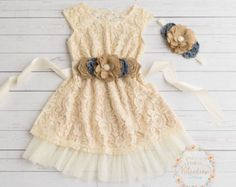 Ivory flower girl dress lace baby dress rustic by SweetValentina Flower Girl Dresses Country, Rustic Flower Girls, Girls Easter Dresses, Girls Lace Dress, Baby Girl Dresses, Flower Dresses, Baby Dress, Dress Lace, Dress Boots