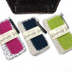 """Cotton washcloths are now online!  Handmade from 100% cotton, these clothes are durable (and cute, IMHO 😉)!  They are large (8"""" x 8.5"""") and can be used for anything you would use a cotton cloth for - washcloth, face cloth, dishcloth.   Each set includes 2 cloths with complimentary designs (swipe to see ▶️).   Contactless Hamilton porch pick up & shipping available. Link in bio 🔼  Happy weekend everyone! . . .  #hamont #roughbarkknits #reusable #zerowasteliving #zerowastehome… Dishcloth, Happy Weekend, Washing Clothes, Hamilton, Cloths, Porch, Winter Hats, Crochet, Link"""