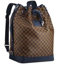 Damier Ebene Sac Marin Blue Louis Vuitton Spring/Summer 2013 Mens Bag Names and Prices