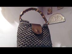 Borsa all'uncinetto a punto canestro e punto gambero la borsa Tramonto Desertico - YouTube