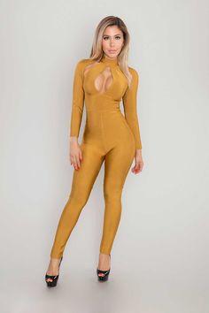 Kennedi Bandage Jumpsuit - Mustard