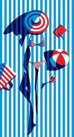 Malika Favre is a French illustrator and art director who is based in East London. The New Yorker, Vogue, BAFTA, Sephora and Penguin Books. Illustration Design Graphique, Illustration Mode, Beach Illustration, Art Illustrations, Magazine Illustration, Digital Illustration, Creative Illustration, Fantasy Illustration, Fashion Illustrations