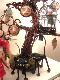 ooak polymer clay art dolls ...  those darn cats ... by Dinkydarlings
