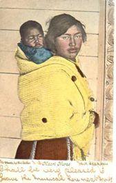 #159 Maori Nurse  postcard.