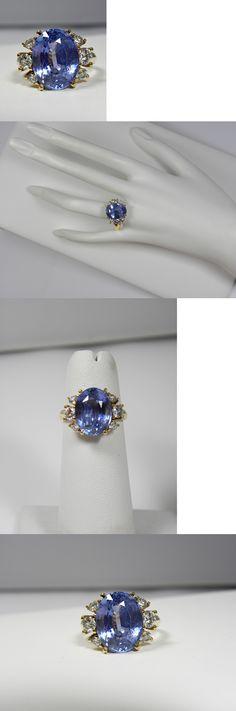 Rings 165044: 10.80Ct Natural No Heat /Untreated Fine Violet Blue Sapphire Diamond Ring 18K BUY IT NOW ONLY: $22769.66