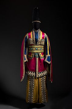 Costume for a Lezghin from Thamar 1912 performed by the Ballet Russe.                                                                                                                                                                                 Plus
