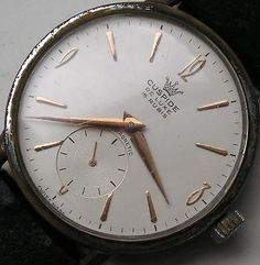 WORKING VINTAGE CUSPIDE 15 JEWELS WRISTWATCH SWISS MANUAL WIND WATCH SUB SECOND